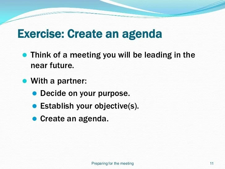 how to create agenda for meeting - Leonescapers