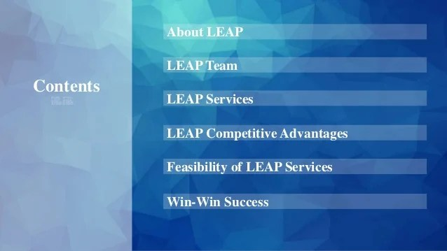 Leap business plan
