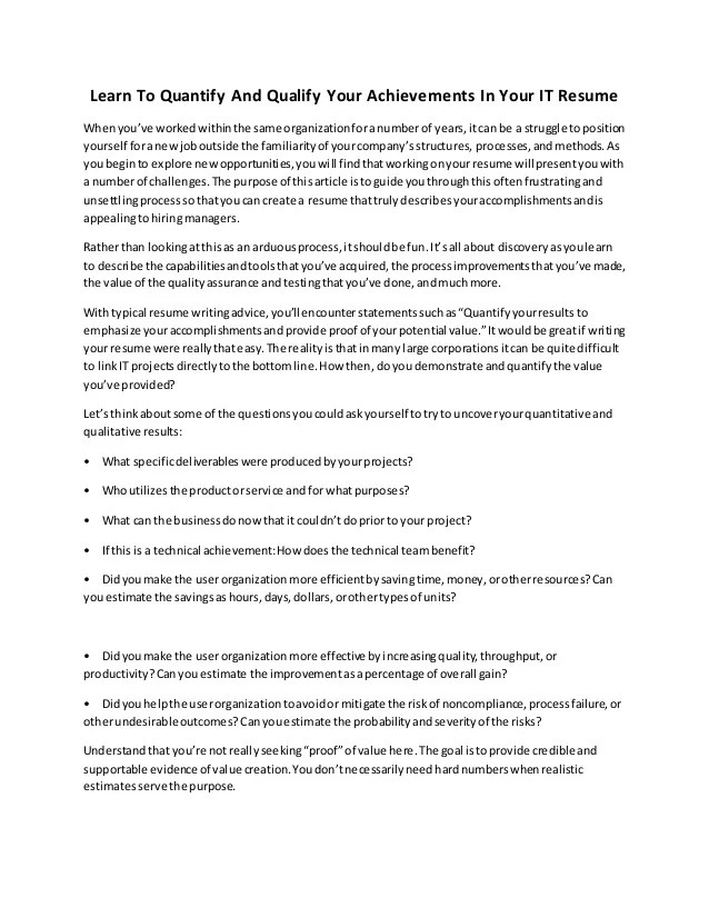 Achievements For A Resumes - Alannoscrapleftbehind