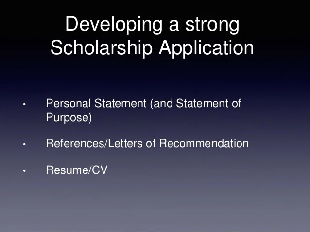 how to write a resume for scholarships