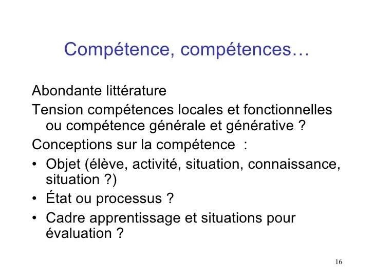 competence connaissance cv