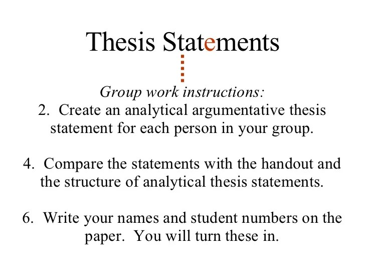 Writing An Argumentative Thesis Statement Ap English