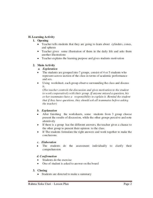 Lesson Plan 4 Resume Writing Laep Lesson Plan 9th Grade Junior High School