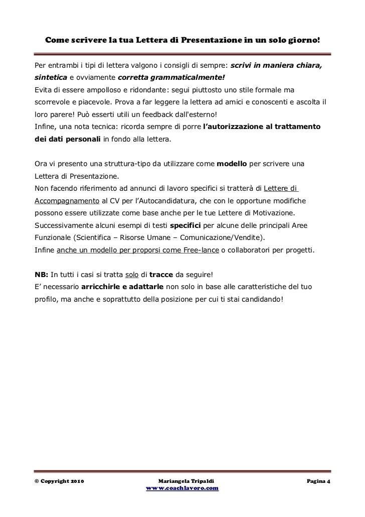 lettera di presentazione - Onwebioinnovate