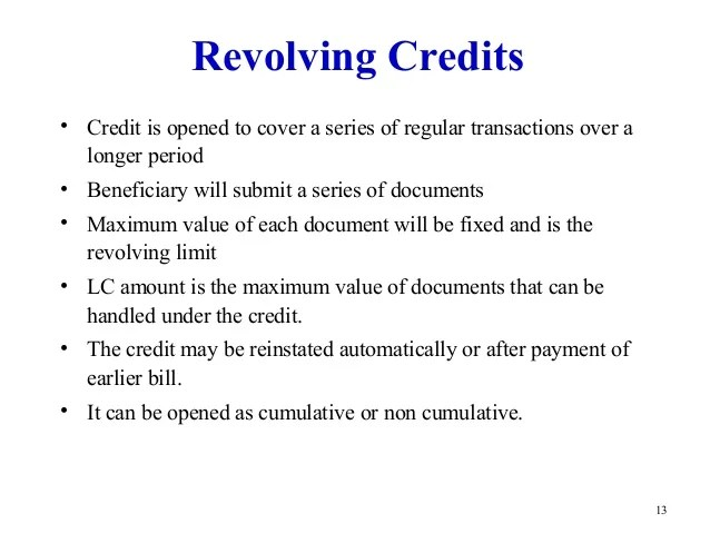 Use Of Drafts With Export Letter Of Credit Letter Of Credit
