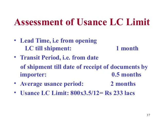 Usance Wikipedia Letter Of Credit