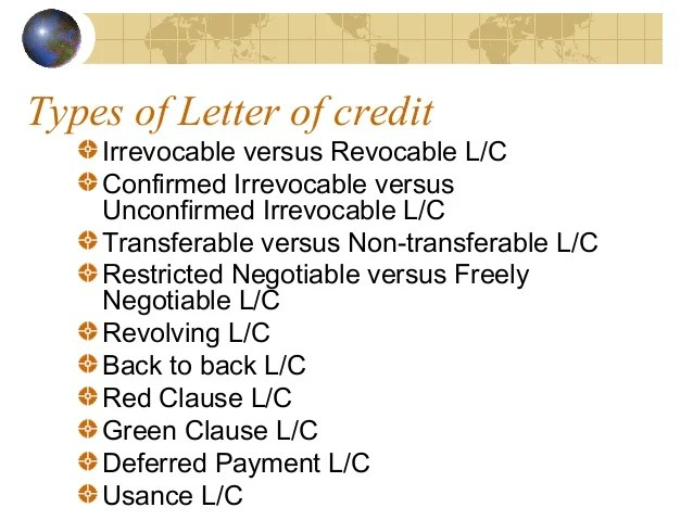 Irrevocable Letter Of Credit Iloc Investopedia Letter Of Credit