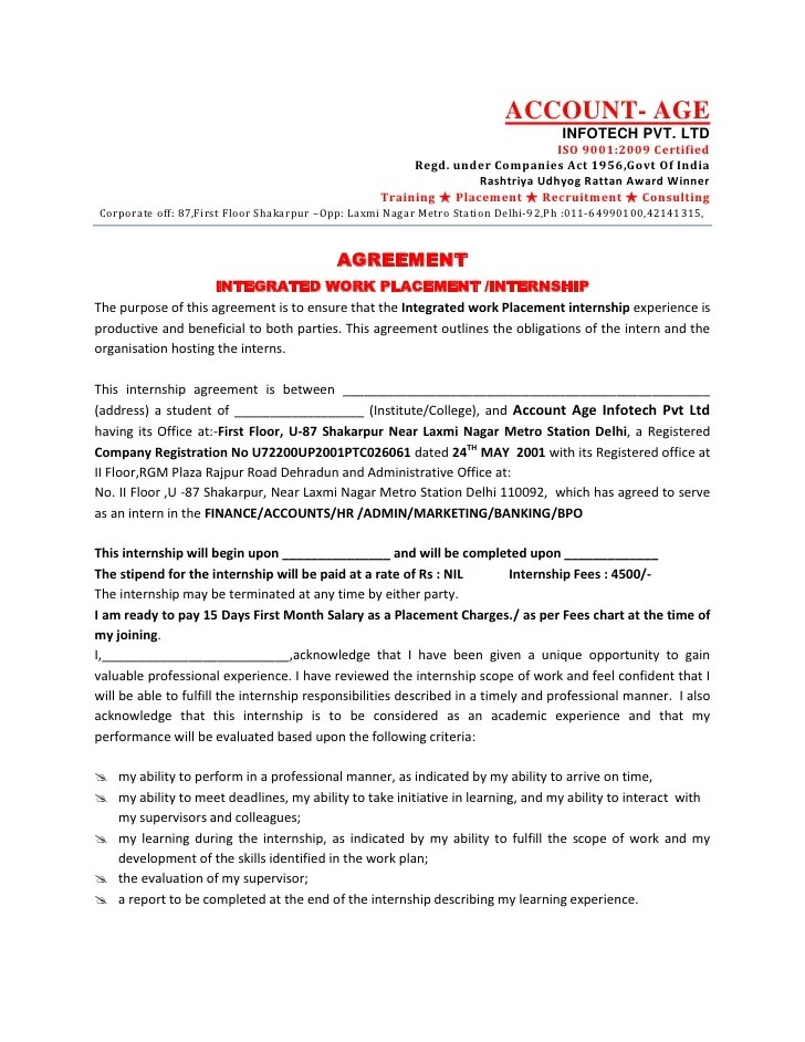 Letter Of Agreement To Work Resume Pdf Download