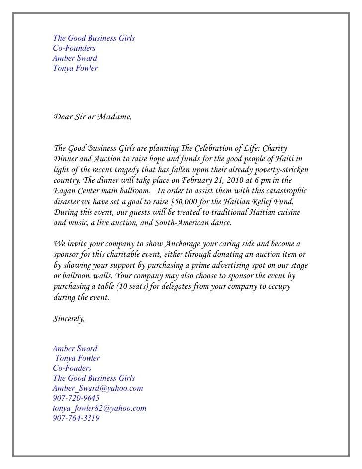 Invitation letter for fundraising dinner invitationswedd sample invitation letter for gala event images stopboris Choice Image