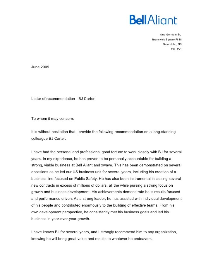 Letter Of Recommendation For Coworker. Reference Letter 14 40+ ...