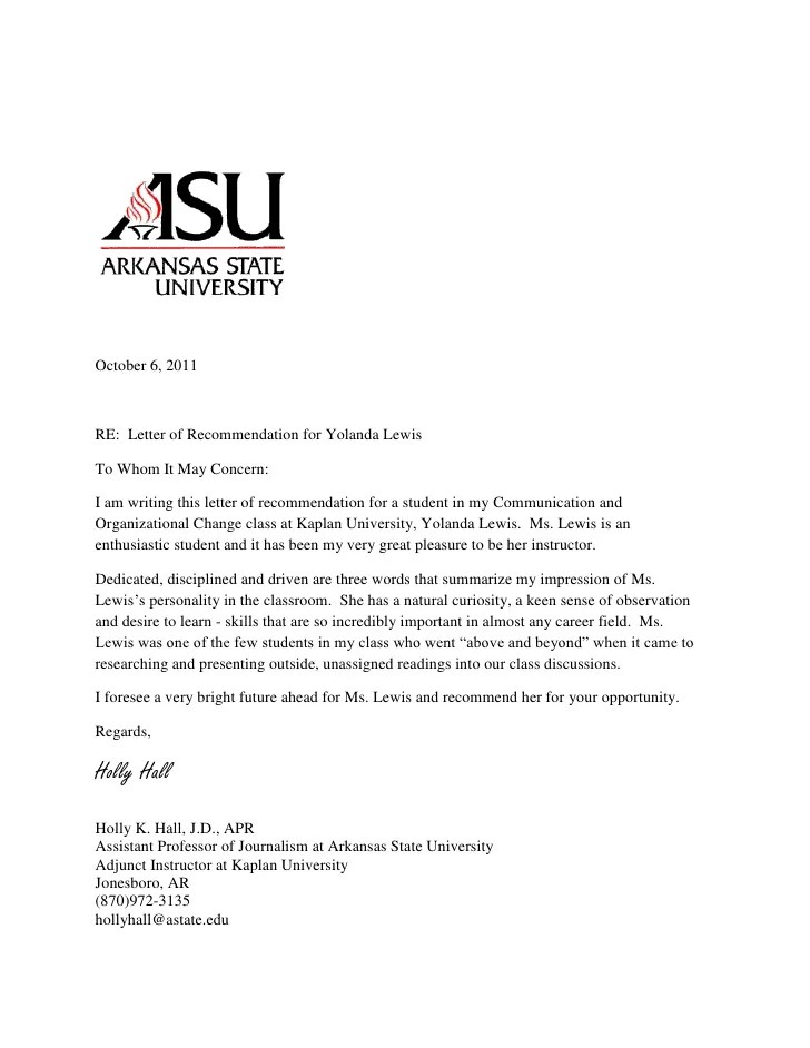 Letters Of Recommendation Writing A Professional Letter Of Recommendation For