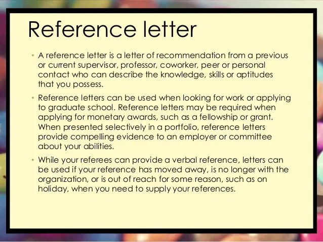 Reference Letter Sample Reference Letter Template Letter Of Recommendation