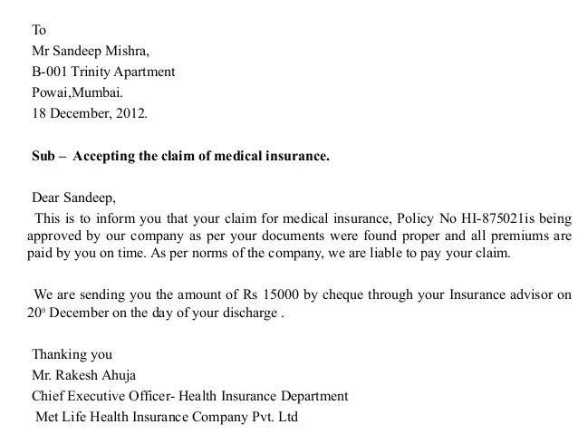 letters to insurance company - Towerdlugopisyreklamowe