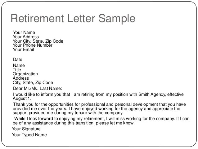 Employment Retirement Letter Samples | 5 Common Resume Mistakes