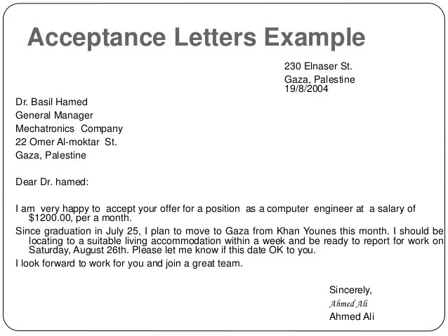 Sample Acceptance Letter University Of Wisconsin Stout Writing Letters By Ganta Kishore Kumar