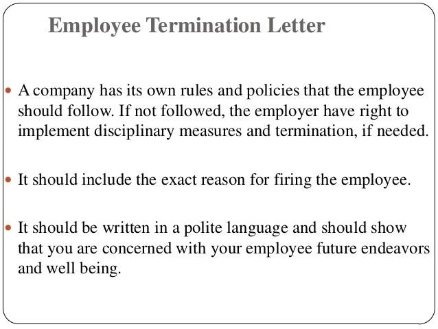letter of termination of employment by employer - Tikirreitschule