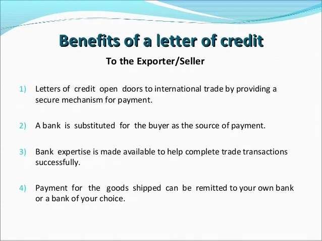 Letter Of Credit Wikipedia Letters Of Credit