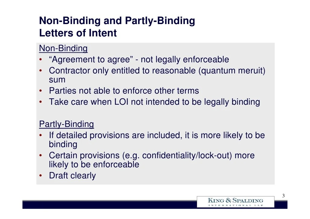 non binding letter of intent - Intoanysearch - letters of intent