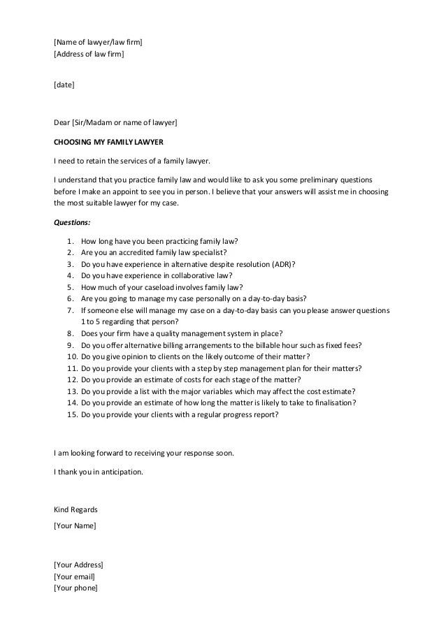 letters to attorney - Pinarkubkireklamowe