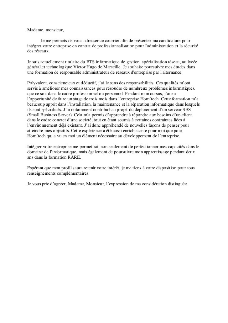 cv et lettre de motivation torrent