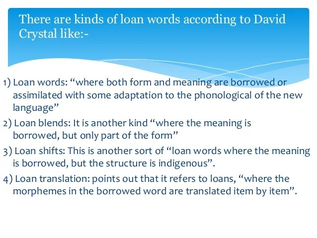 Lexical borrowing in Kurdish language