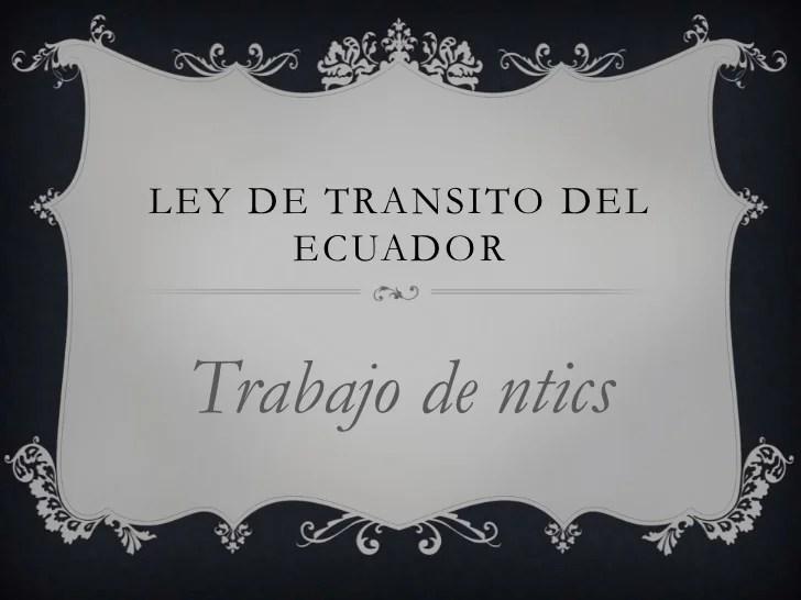 Ley de transito ecuador 2016 newhairstylesformen2014 com licencia de