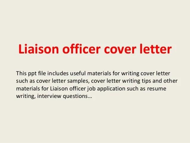 community liaison cover letter