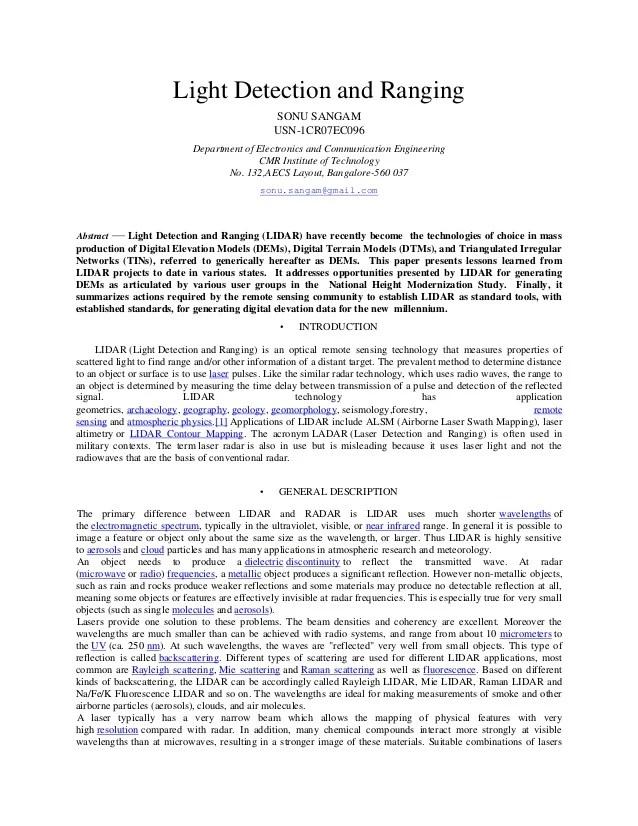 Paperpops Bruce Foster Paper Engineering Lidar In Ieee Format