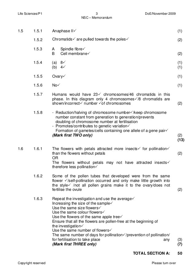 life science paper 1 september 2013 memo