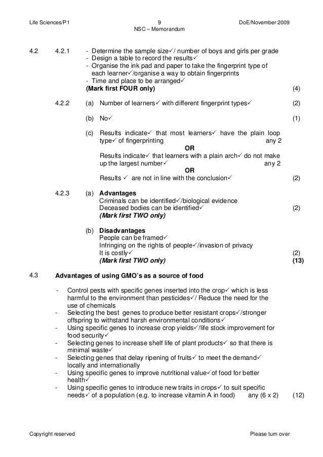 physical science p1 2013 memorandum
