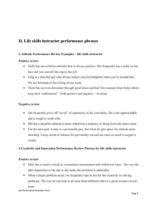 life skills example - Canasbergdorfbib