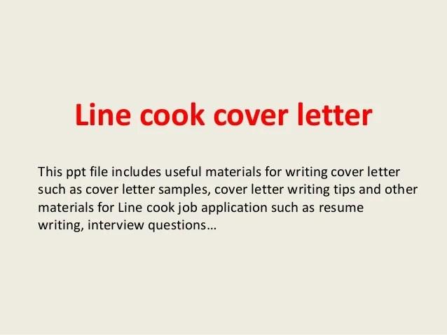 line cook cover letter samples