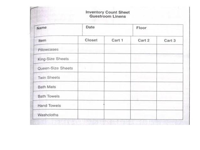 linen inventory sheet - Kavarquiztrivia