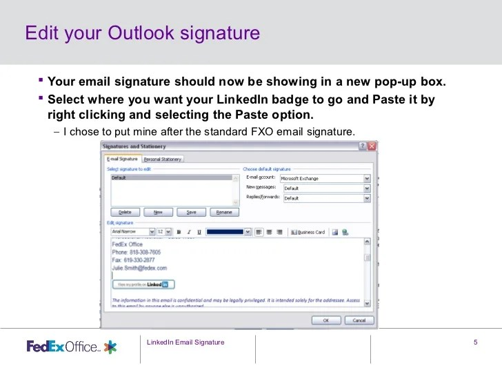 email signature examples outlook - Yelommyphonecompany