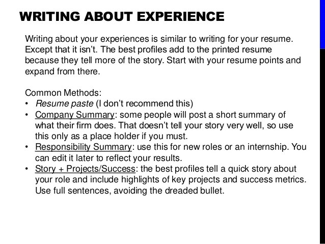 best words to use in resume summary