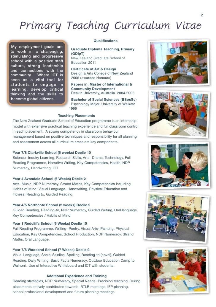 resume for ict teacher