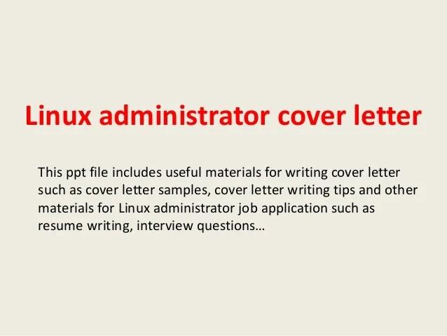 sample system admin cover letter