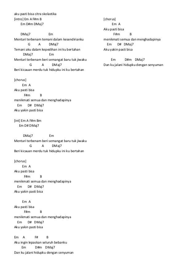 Chord Lagu Hidup Berawal Dari Mimpi | chord gitar bondan ...
