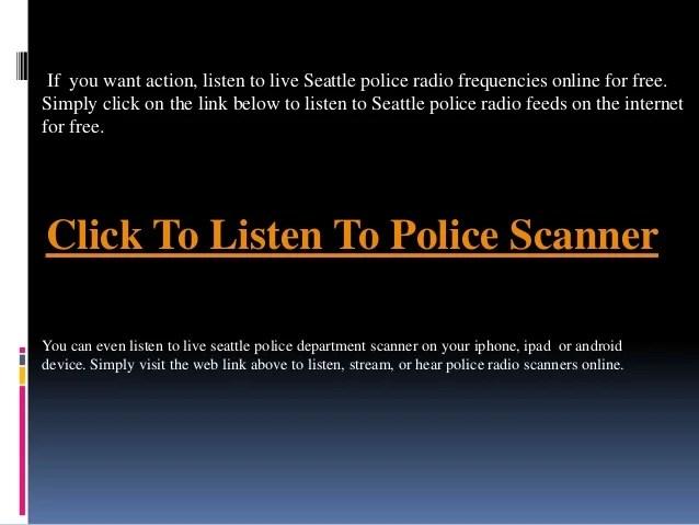 seattle police scanner