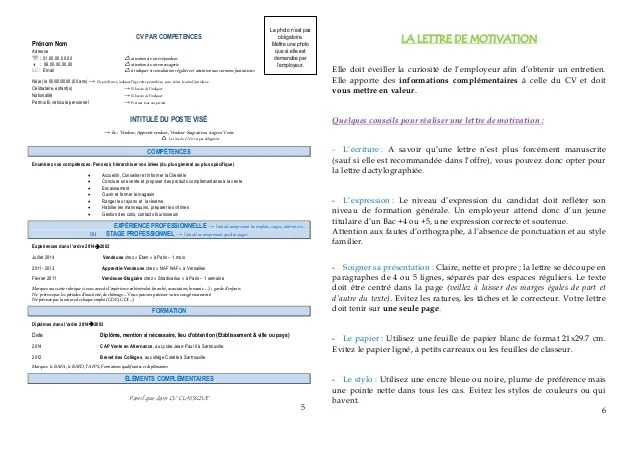 lettre de motivation en accord avec son cv