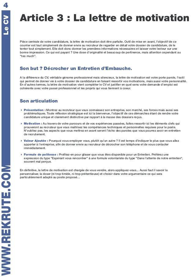 aide pour cv et lettre de motivation lausanne