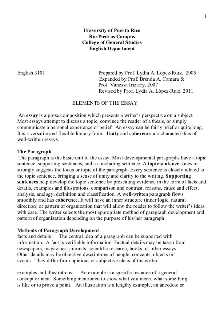 Samples Of An Essay