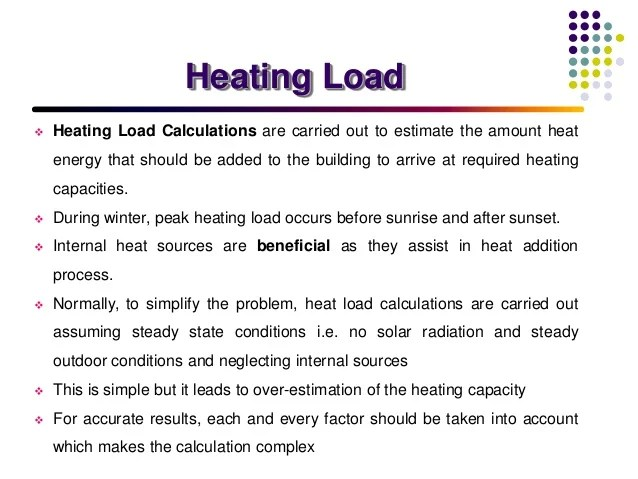 Load Estimation In Air Conditioning