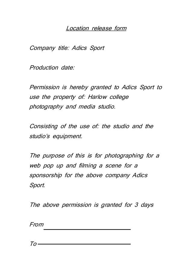 permission to use image release form - Acurlunamedia