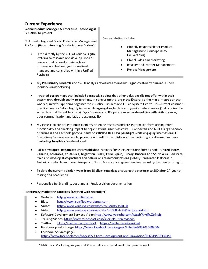 Finance Resume Examples Samples Resume Of Lonnie Mcrorey International Sales Marketing