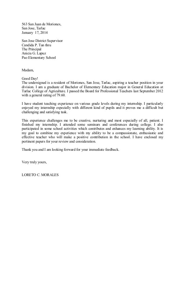 cover letter letter of application - Josemulinohouse - cover letter for college teaching position