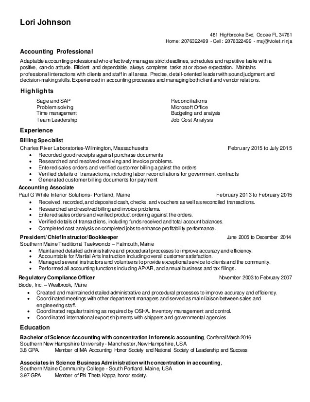 resume update in