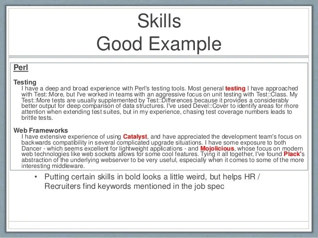 what skills to put on a resume examples examples of good skills