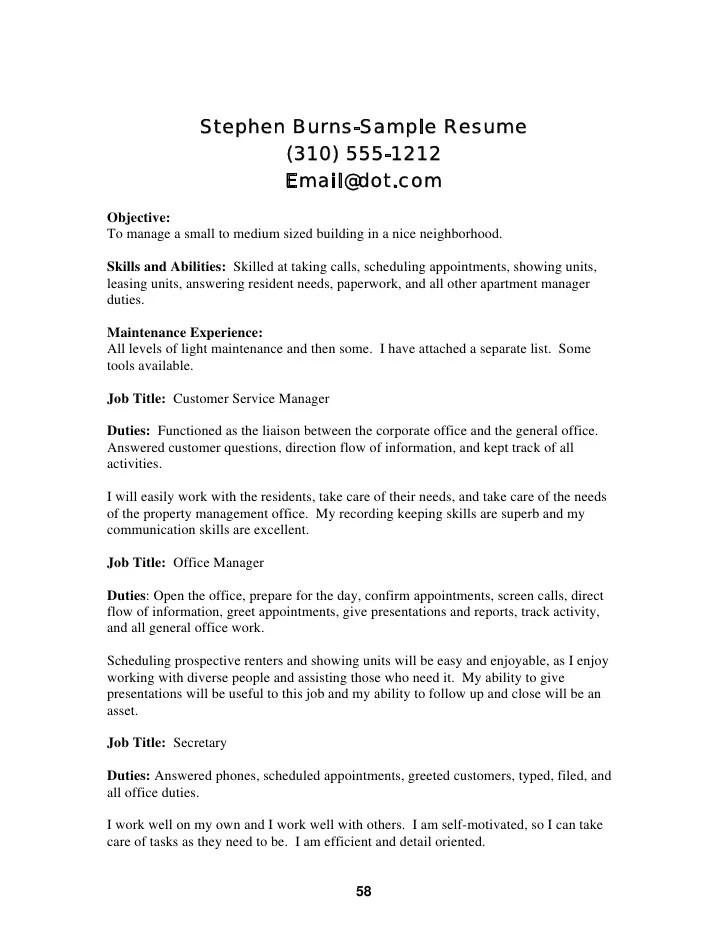 sle resume entrepreneurial skills