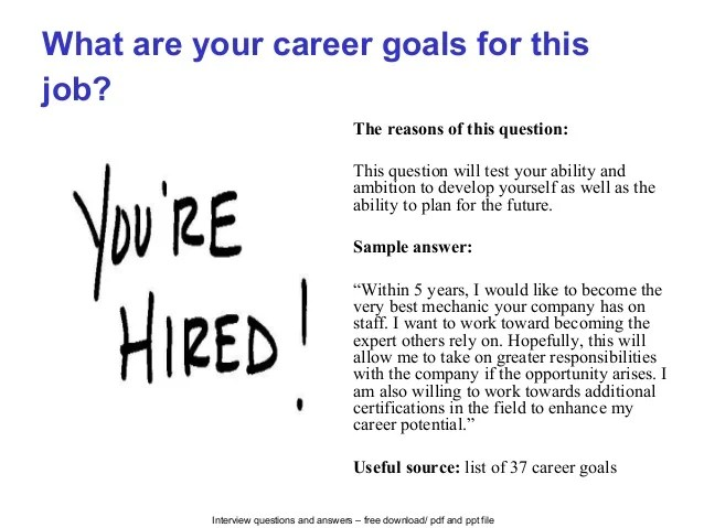 what is your career goal - Jolivibramusic